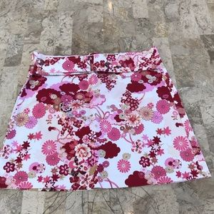Heart and soul belted floral skirt NWT size 3